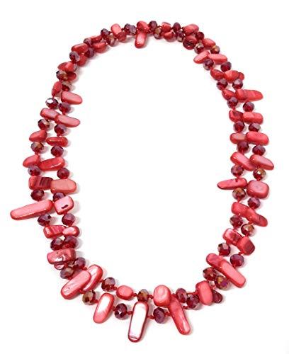 BRANDELIA Collares Largos de Colores Mujer...