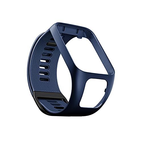 XUEXIU Silicona Reemplazo De Pulsera Reloj Correa De Banda para Tomtom Runner 2 3 Spark 3 Sport Watch Tom 2 3 Serie Soft Smart Band (Color : Navy)