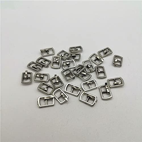 YANME 20 Piezas Plata/Oro/latón/Negro 4,5 Mm Hebillas de cinturón de muñeca de Metal Costura Patchwork Accesorios de Ropa
