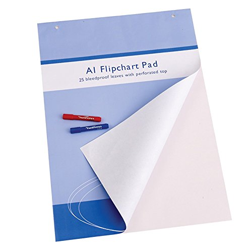 VIZ-PRO Standard Easel Pads, A1 Flipchart Paper Pad, 23 x 32 Inches, 25-Sheets/Pad