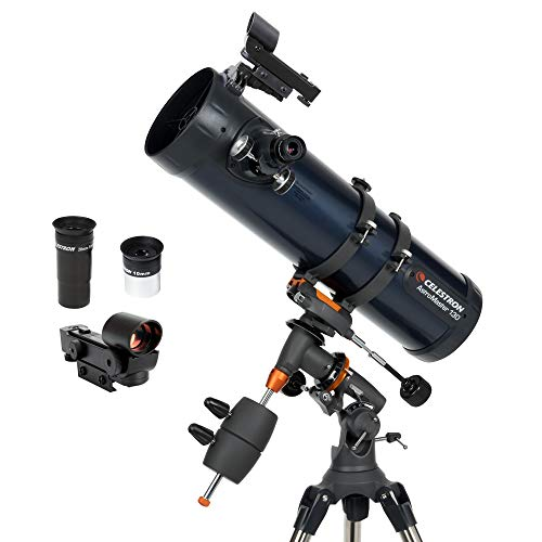 Celestron - AstroMaster 130EQ Newtonian Telescope - Reflector Telescope for Beginners - Fully-Coated Glass Optics - Adjustable-Height Tripod - Bonus Astronomy Software Package