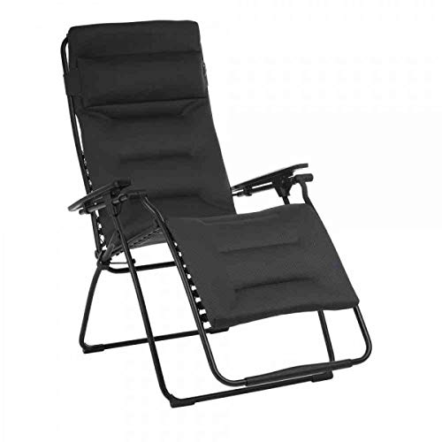Gautzsch Relaxliege Futura XL H36125, AirComfort Acier/Stahl schwarz