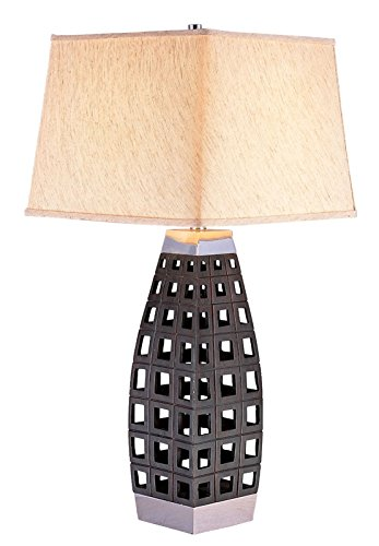 Furniture of America L94178T Zara Black Table Lamp Miscellaneous-Others