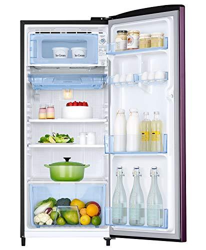 Samsung 192 L 3 Star Inverter Direct Cool Single Door Refrigerator (RR20A172YCR/HL, Camellia Purple)