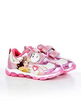 Disney Princess Belle Toddler Girls Light Up Sneaker  Toddler/Little Kid Size 9  Pink