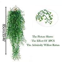 人工植物 欧州の海事ウィローラタンバルコニーハンギングシミュレーション緑色植物のベッドルームウォールデコレーションプラスチックフェイク LWSJP (Color : 5, Size : One Size)