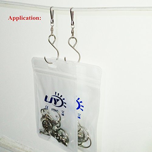 LJY 8-Pack Swivel Hooks Clips for Hanging Wind Spinners Wind Chimes Crystal Twisters Party Supply