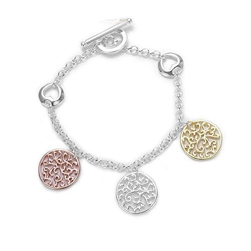 HMILYDYK Sieraden Unieke Holle Rondjes Hanger 925 sterling zilveren ketting armband