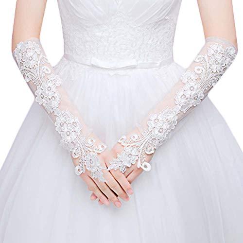 Gants de mariée mariage robe de soirée dentelle longs gants A06