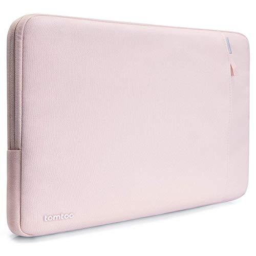 """tomtoc Protection à 360° Housse Ordianteur Compatible avec 13.3"""" MacBook Air Modèle A1466 A1369, Sacoche pour 13"""" MacBook Pro A1502 A1425, 12,9"""" iPad Pro, 13.5"""" Surface Book/Laptop,Rose"""