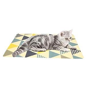 Almohadilla de arena para mascotas con alta impermeabilidad y duradera para pies de mascotas, almohadilla para moler garras de gato, almohadilla de PVC lavable para gatos 4