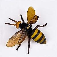 Eden Toys 昆虫 動物 フィギュア 模型 リアル 誕生日 プレゼント 贈り物 PVC おもちゃ 家 インテリア 置物 オプジェイ 塗装済 完成品 (ミツバチ)