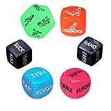Fly-Love Funny Romantic Sport Dice Couple Dice Party Dice,Novelty Gift for Valentine's Day, Hen Party, Honeymoon, bacherette Party,Bridal Shower, Groom Roast, Wedding, Anniversary, Marriage