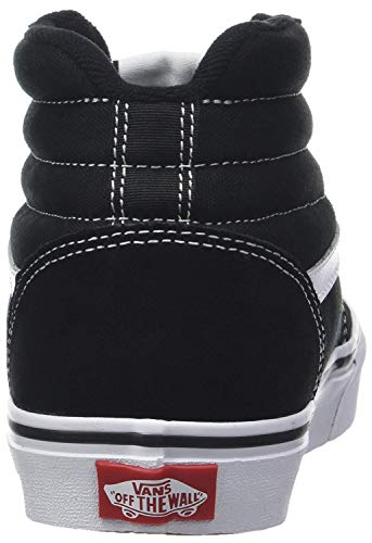 Vans Ward Hi Suede/Canvas, Sneaker a Collo Alto Uomo, Nero ((Suede/Canvas) Black/White C4R) 42 EU
