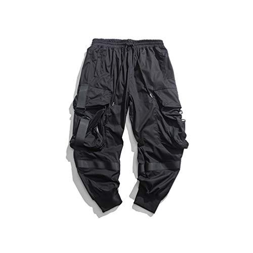 Streetwear Joggers Pantalon Hip Hop Pantalon Sarouel Noir Homme Techwear Vêtements Coréen Hommes Vêtements Black XXL