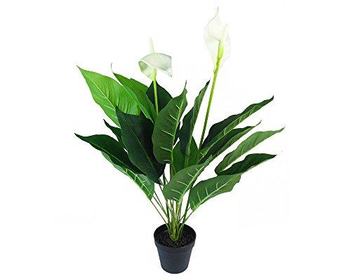 Plante Spathiphylium avec pot 76 cm Artificielle Décoration Ameublement