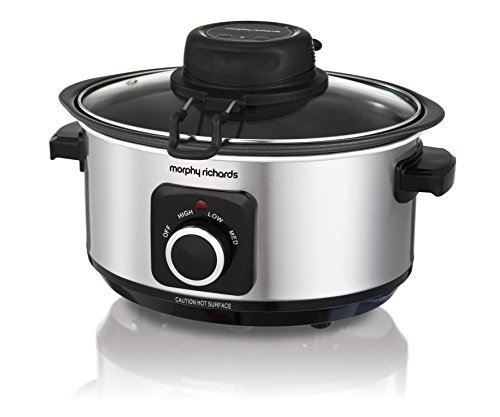 Morphy Richards 460009 Sear, Stew and Stir Slow Cooker Integrated Auto Stirrer,...