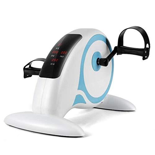 Mini entrenador de ciclismo Pedal de ejercicio estacionario con pantalla LCD, con soporte, Pedal eléctrico motorizado para ejercicios, Ciclismo portátil para personas mayores para ejercicios de brazo