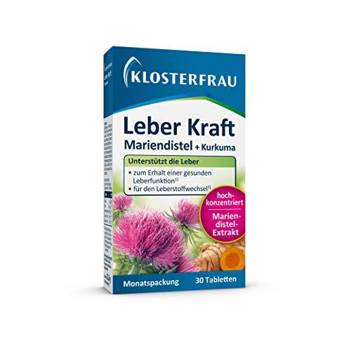KLOSTERFRAU Leber Kraft unterstützt die Lebergesundheit mit Mariendistel & Kurkuma | 30 Tabletten | Monatspackung