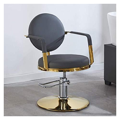 SOAR Sillas de barbero Silla de peluquería Barbero Silla de elevación Pequeña Silla giratoria Silla de salón de peluquería Silla de Belleza Simplicidad (Color : Gray, Size : F)