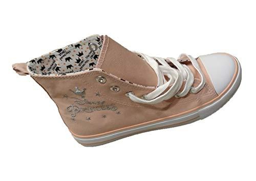 Disney Princess - Zapatillas de deporte con cordones para mujer o niña, color rosa, color Rosa, talla 41 EU