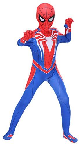 Riekinc Superhero Kids Bodysuit 3D Style Halloween Cosplay Costumes Red Kids Small