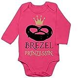 Shirtracer Oktoberfest & Wiesn Baby - Brezel Prinzessin - 6/12 Monate - Fuchsia - Baby Dirndl - BZ30 - Baby Body Langarm