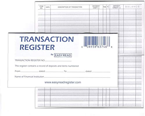 large size check register - 2