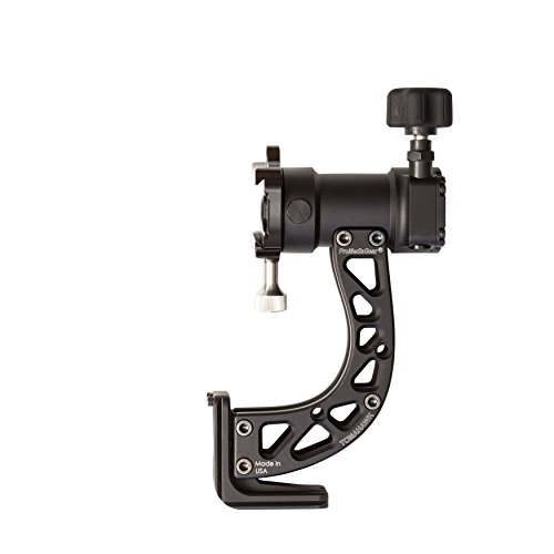 GT1 ProMediaGear Tomahawk Sidekick Gimbal Head Professional Heady Duty for Tripods or Monopods Arca-Swiss Type Base Quick Release