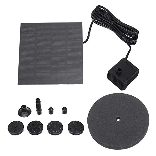 Zonne-Energie Waterpomp Tuin Vijver Watering Floating Pump Solar Water Panel Vermogen Fountain Pompkit Kleine Vijver Aquarium Patio Tuindecoratie (Color : Black, Size : 120cm)