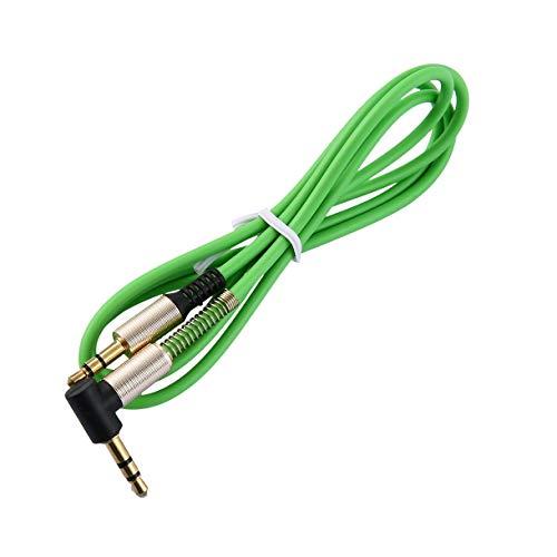 Luani 3.5 mmジャック1M AUXオーディオケーブルオスからオスケーブルゴールドプラグラインコードスプリングオーディオケーブル用電話カースピーカーヘッドフォン