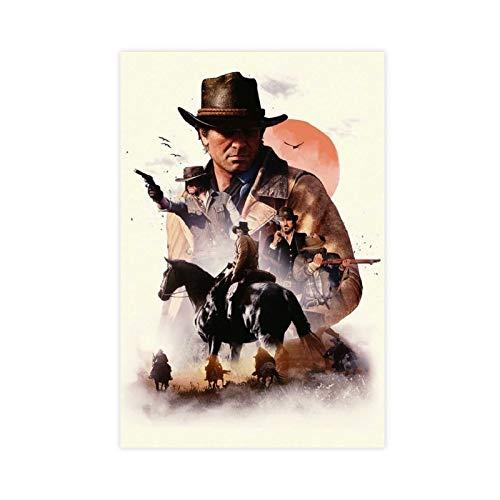 Arthur Morgan Red Dead Redemption 2-Arthur Morgan Poster Canvas Poster Bedroom Decor Sports Landscape Office Room Decor Gift 16×24inch(40×60cm) Unframe-style1