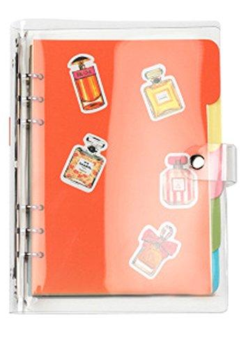 FUYUFU DIY Notebook Reise Tagebuch PVC Abdeckung Notizblock Notebook (Einfarbig, A6)