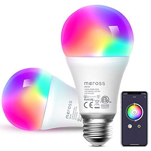 Bombilla LED Inteligente, Wi-Fi Bombilla, Luces Cálidas/Frías...