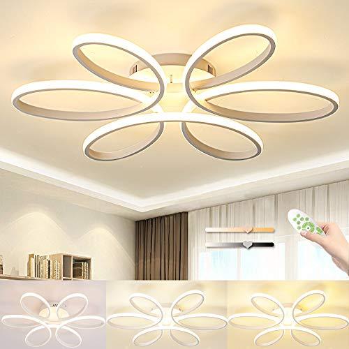 BALTRE De techo del LED, creativo flor moderna simple de techo en forma de luz 58cm Blanco