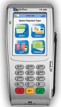 vx680 Wireless GPRS Terminal- with Smart Card Reader and Contactless by VeriFone