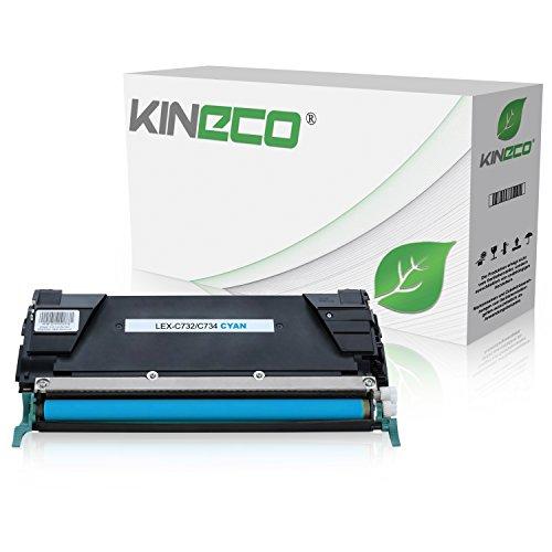 Toner kompatibel zu Lexmark Optra C732, C734DN, C736DN, CS735dn, X734dw, X736de, X738de - C734A2CG - Cyan 6.000 Seiten