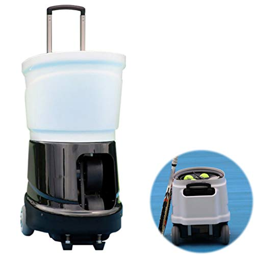 Great Deal! Tennis Automatic Ball Machine with Remote Control   Adjustable Pitching Angle   Adjustab...