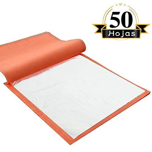 VGSEBA Pan de Oro de Imitación Hoja de Aluminio Decorativa para Manualidades Manicura Muebles 5.5 x 5.5 pulgadas 50 hojas por Librillo