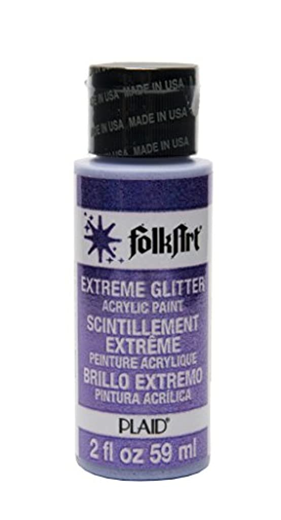 FolkArt Extreme Glitter Acrylic Paint in Assorted Colors (2 oz), 2791, Purple