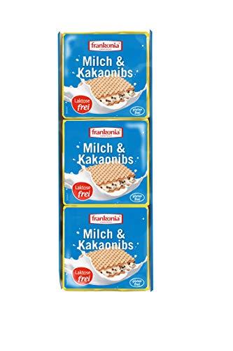 frankonia CHOCOLAT Waffelschnitte Milch & Kakao Nibs laktosefrei & glutenfrei 3x21g, 63 g
