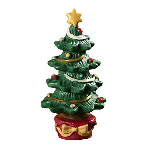 StyleBest Adorno de estatuilla en Miniatura de Navidad, Adorno de Acuario de pecera, árbol de Navidad de Resina/Adorno de Caja de Regalo, decoración de paisajismo Creativo de Navidad