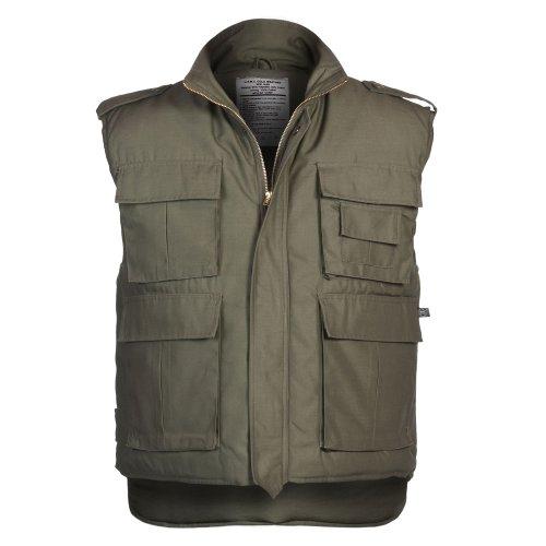 MFH US Ranger - Chaleco acolchado con múltiples bolsillos, color verde oliva, Od Green., L