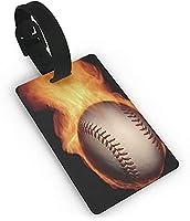 かっこいい野球 ラゲッジタグ名刺ネームタグ 荷物タグ 旅行用品 バッグ用 お名前/住所/電話番号/メッセージなど
