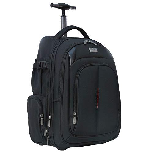 Handtas trolley met laptopvak zwart
