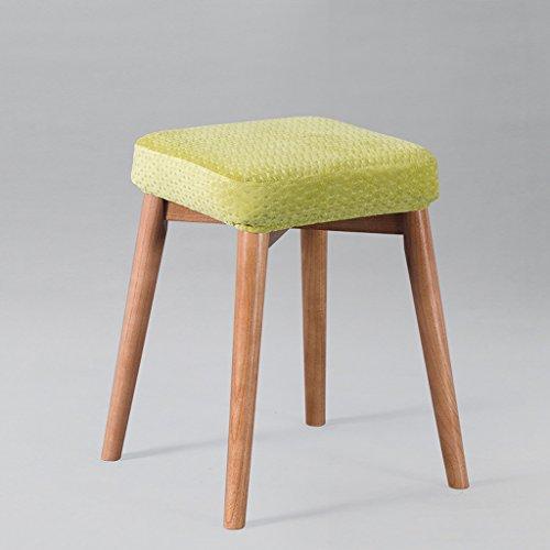 CJH massief houten kruk huis woonkamer dressoir vierkante stoel hoge profiel eenvoudige doek kussen