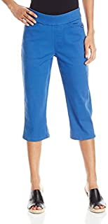 Chic Classic Collection Women's Flat-Waist Pull-On Capri Pant