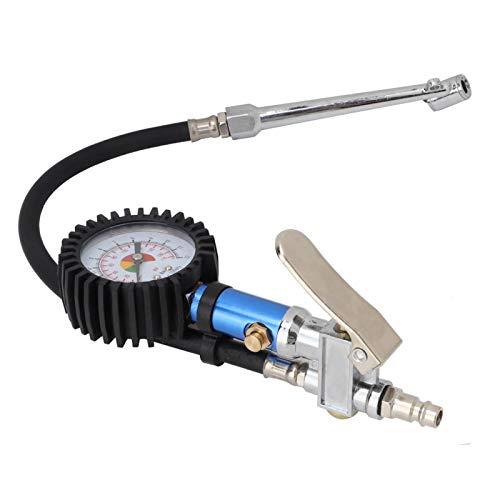 Wosune Pistola de presión de neumáticos, Pistola de presión de neumáticos de aleación Funcional autoajustable, Reparación de automóviles de presión de neumáticos de Taller de automóviles para medir
