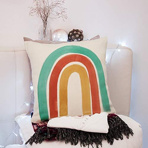 Gorgeous Store Funda De Almohada De Microfibra 45x45 Cm - Conjunto De 2 Pillowcases Transpirable Suave Antiarrugas, 2 Unidades Z (Color : B, Size : Cotton Linen)