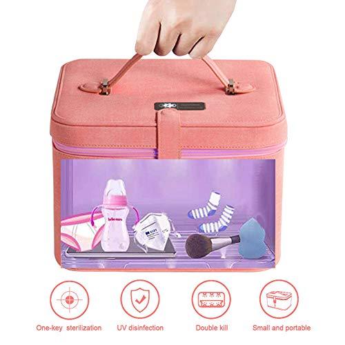UV Desinfektion Box Sterilisator UVC Wasserdicht Beutel Schnelle Sterilisation 99,9% Mit 12 Lampenperlen,Leicht Zu Tragen Für Unterwäsche,Tablets,Handys,Schönheitswerkzeuge Usw Reinigen